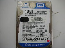 "Western Digital 160gb WD1600BEVT-00ZCT0 2061-701499-E00 AD  2,5"" SATA"