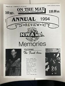 On The Mat Wrestling Newsletter Annual 1994 Review NWA Memories Feat Funk Bros
