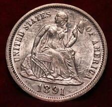 1891 Silver Philadelphia Mint Seated Liberty Dime
