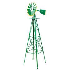 8Ft Windmill Yard Garden Ornamental Wind Mill Weather Vane Weather Resistant Us