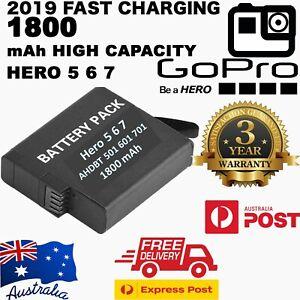 GoPro HERO7 Black 7 6 5 Go Pro Battery Set + Triple USB Charger Kit + Warranty