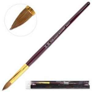 Fuji Finest Kolinsky Acrylic Nail Brush with Purple Wood Handle Size 14