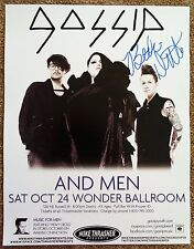 Signed BETH DITTO Gig POSTER The GOSSIP In-Person Autograph Concert