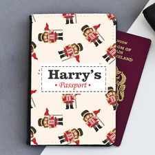 Personalised Toy Soldiers Baby's First Boys Kids Childrens Passport Holder Cover