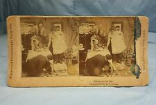 1897 Universal Stereoscopic View Co. Stereoview Card: BIDDY AND THE RAT