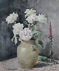 Bouquet de roses signaturepost impressionniste nature morte frenchdecoration