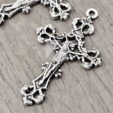 20pcs DIY Charm Pendant Tibetan Silver Jewellery Findings Cross 43.5x26x3mm