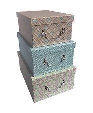 Colourful Decorative Geo Design Home Office Shoe Storage Box
