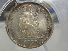 1890 SEATED LIBERTY DIME-PCGS MS63 EXCELLENT SPECIMEN-FREE SHIPPING