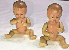 Vintage Schildkrot German Twin Doll Turtle Mark 3 1/2� Tall Lot Of 2