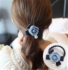 1stk. Blume Kugel Damen Haargummi Mädchen Haarband Haarring Geburtstag Geschenk