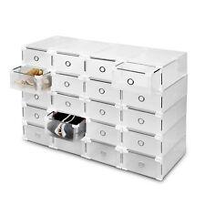 20 pièces Boîte de rangement pour chaussures Organiseur tiroir Plastique pliable
