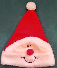 Bonnet Père Noël polaire rouge fourrure et pompon blancs déguisement unisexe TBE