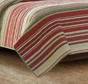 Eddie Bauer Twin Quilt Sham Set Yakima Valley Red Stripe One Sham NEW