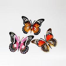 Wanddeko Schmetterling 24 cm Metall mit Durchbruch Gartendeko Insekten formano