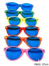 12 occhiali giganti clown assortiti occhialoni in colori fluorescenti