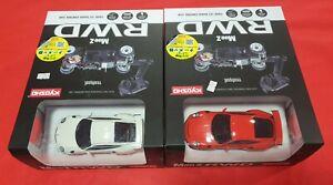 Kyosho Mini-z Readyset 2X4 MR03 Porsche Orange and White #32321OR #32321W
