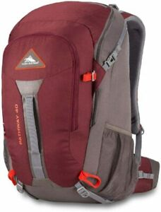 High Sierra Pathway Hiking Backpack 40L Cranberry/Slate/Redrock 79546-5742