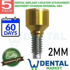 X 5 Dental Implant Locator Attachment Abutment Titanium Internal Hex 2mm