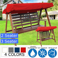 2 & 3 Seater Garden Swing Chair Replacement Patio Canopy Spare Fabric Cover