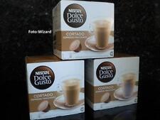 NESCAFE DOLCE GUSTO 48 CORTADO ESPRESSO MACCHIATO PODS 3X 16 NEW COFFEE FREE P&P