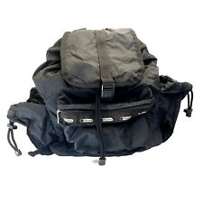 LeSportsac Black Backpack Vintage Nostalgia 90s Signature Water Resist Backpack