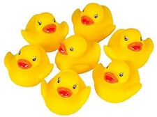10 X Yellow Bathtime Rubber Ducks Bath Toy Squeaky Water Play Kids Baby shower