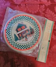 NEW Set of 4 Vintage  Down Home Christmas stove burner covers