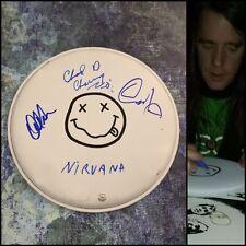 "Gfa Chad Channing, Dale & Dan * Nirvana * Signed 10"" Drumhead N2 Coa"