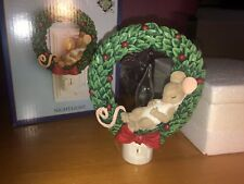 "Charming Tails ""Sleeping Mouse Wreath Nightlight Candle"" Dean Griff Nib"