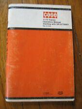 Case 1175 Tractor Operator's manual ORIGINAL