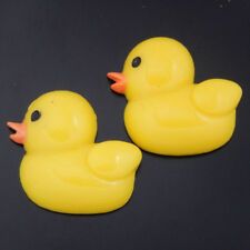 50496Yellow Resin Flatback Little Duck Decoration Pendants Crafts Findings 15pcs