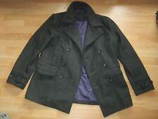 Men's DREAMWEAVER TWEED DOUBLE BREASTED MILITARY WOOL COAT Jacket Large RRP £140