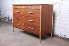 Paul McCobb for Directional 6000 Series Mahogany and Brass Ten-Drawer Dresser or