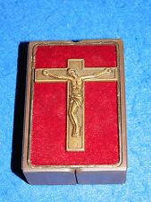vintage BOITE box CROIX crucifix croce CROSS Kreuz CRUZ jesus christ JC tableau