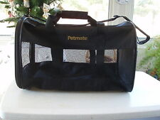 PET CARRIER TRAVEL BAG PETMATE SMALL ANIMAL CARRIER-NYLON WASHABLE W/ HANDLES