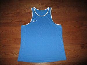 Mens Nike Dri-Fit Blue Stretch Tank Top Sz. 2XL