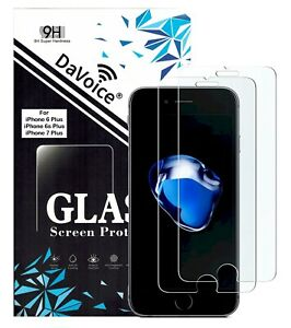 Screen Protector for iPhone 6 Plus 7 Plus 8 Plus Clear (2-Pack) Display