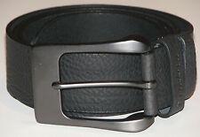 New Mens Black Leather Belt Size 32  -  81cm     (B107)