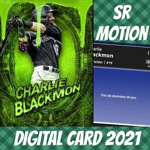 Topps Bunt Charlie Blackmon Halloween Motion Slime 2021 Digital Card