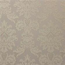 Arthouse Messina Damask Vinilo Pesado Papel Pintado Texturizado Marrón 261003