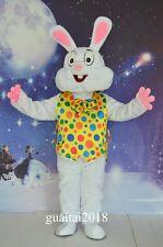 2017 Coat Easter Bunny Mascot Costume Rabbit Cartoon Costume Party Fancy Dress