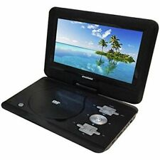10 Inch Sylvania Portable DVD Player with Swivel Screen & Car Adapter in Black