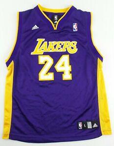 Vintage Adidas Los Angeles Lakers Kobe Bryant Basketball Jersey Size Youth Large