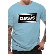 Oasis Mens Blue Classic Logo Definitely Maybe T-shirt Official Unisex Gallagher M PE11344TSCPM