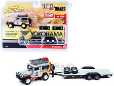 1980 Toyota Land Cruiser #158 & Trailer Yokohama 1/64 Johnny Lightning Jlcp7346