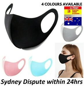 Cloth Fabric Face Mask Washable Unisex Adult Reusable Black/Blue/Pink/Grey NEW