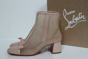 New sz 9.5 / 40 Christian Louboutin Checkypoint Booty 55 Blush Boot Shoes