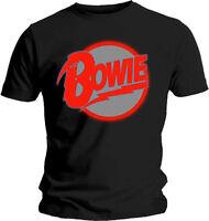 DAVID BOWIE Red Logo T SHIRT S-M-L-XL Brand New Official Bravado Merchandise