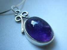 Purple Amethyst 925 Sterling Silver Necklace Corona Sun Jewelry New